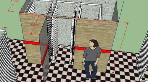 Расстойка на 3 телеги визуализация