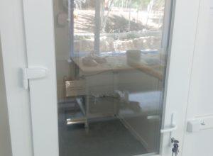 Расстойка со стеклянной дверью